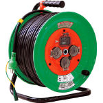 【送料無料】日動  防雨型漏電遮断器付電工ドラム NW-EB53