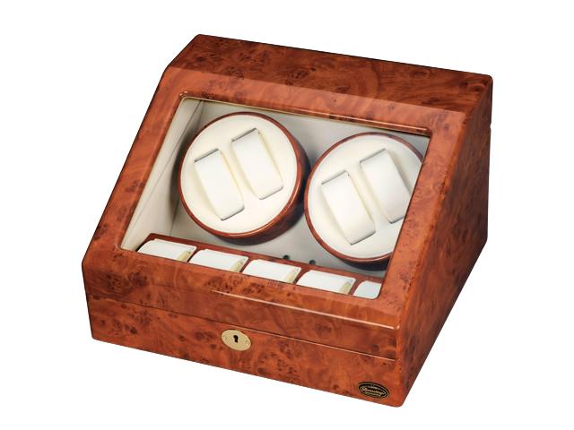 エスプリマ LUHW 木製4連ワインディングマシーン LU30004RD ダークウッド