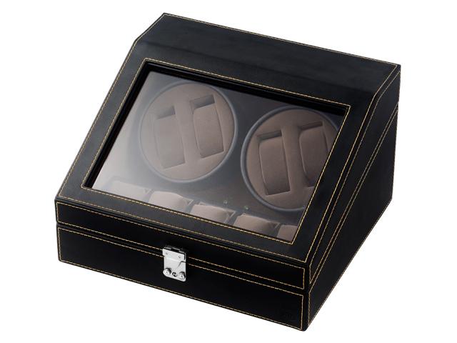 エスプリマ SPI 合皮4連ワインディングマシーン SP43014LBK ブラック