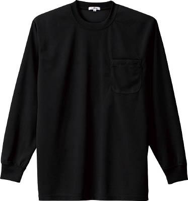 アイトス 吸汗速乾クールコンフォート 新商品 長袖Tシャツ男女兼用 信用 ブラック AZ-10575-010-S S