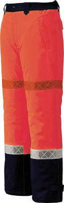ジーベック 800 高視認防水防寒パンツ LL オレンジ800-82-LL