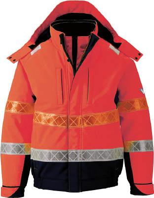ジーベック 802 高視認防水防寒ブルゾン 3L オレンジ802-82-3L