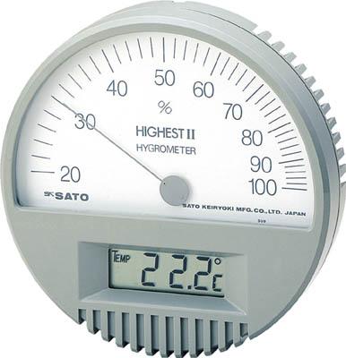 佐藤 湿度計 ハイエスト2型湿度計(温度計付)7542-00