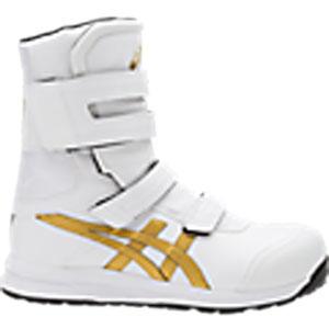 アシックス(ASICS)  安全靴(作業用靴)ウインジョブ FCP401.0194 ホワイト×ゴールド FCP401 CP401