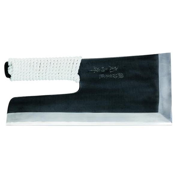 豊稔企販 鍛冶宗匠光山作 反型黒打麺切包丁 300mm A-1127