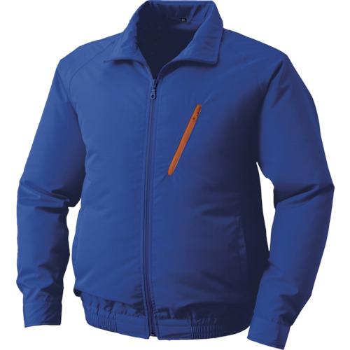 空調服 ポリエステル製 ワンタッチファンブラック 大容量バッテリーセット ブルー 0510-B22-C04