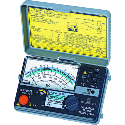 KYORITSU 3144A 2レンジ小型絶縁抵抗計 MODEL3144A 共立電気計器