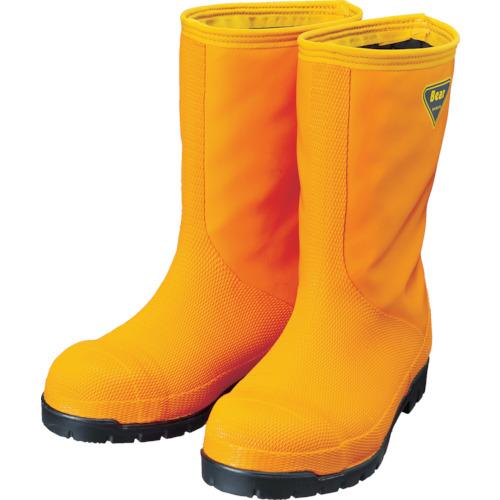 オレンジ NR031-24.0 SHIBATA シバタ工業(株) NR031 冷蔵庫用長靴-40℃ 24.0