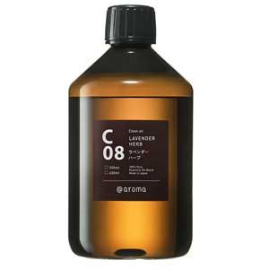 アットアロマ エッセンシャルオイル C08 ラベンダーハーブ 450ML クリーンエアー