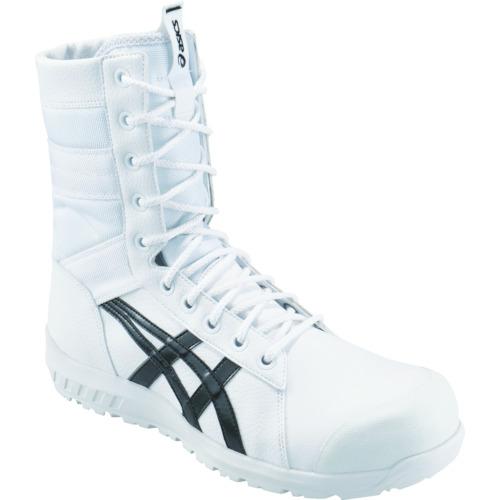 アシックス(ASICS) ウインジョブ CP402 ホワイト/ブラック 半長靴ファスナータイプ 1271A002.100