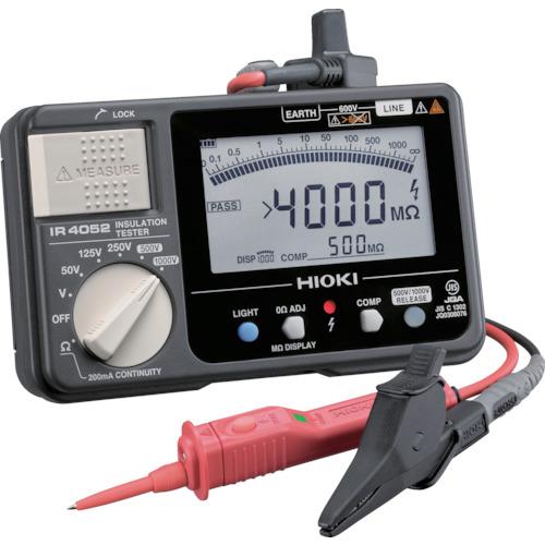 HIOKI 5レンジ絶縁抵抗計 スイッチ付きリード IR4052-11 日置電機