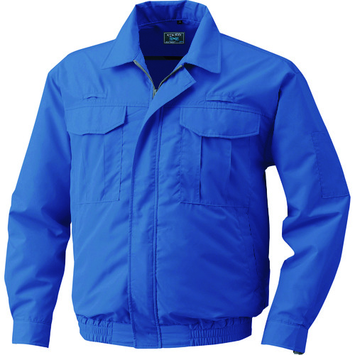 空調服 綿薄手フルハーネス仕様空調服 ワンタッチファングレー 大容量バッテリーセット ダークブルー 055F-G22-C14