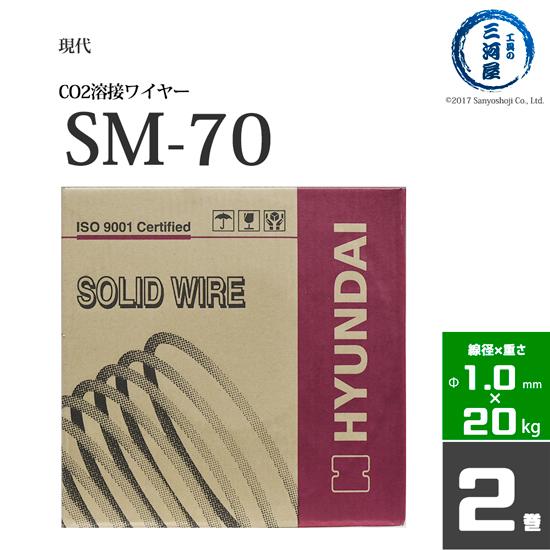 通常在庫品は 平日 土曜日14:00まで当日発送 現代 ヒュンダイ セール 特集 低電流薄板用溶接ワイヤSM-70 巻 20kg SM70 お得な2個セット 半額 線径1.0mm