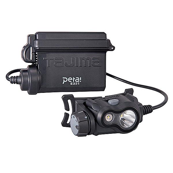 【NEW】☆TAJIMA/タジマ LE-E351 ペタLEDヘッドライト E351 ブラック 350lm 電池別売 ハイブリッド式