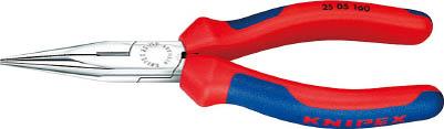 精密な電子部品をつかんだり、切断するのに最適です。  【特価】【あす楽】☆KNIPEX/クニペックス 2505-160 ラジオペンチ 輸入 工具