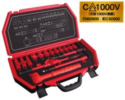 "☆Pro-Auto/スエカゲツール 9.5 mm 3/8"" DR. 17PC. 絶縁工具セット P-E317F"