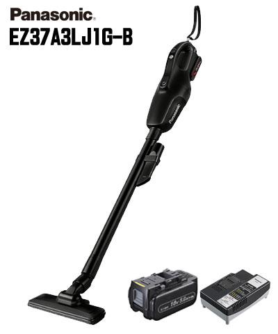 【送料無料】☆Panasonic/パナソニック EZ37A3LJ1G-B コードレスクリーナー 黒(ブラック) 18V 5.0Ah電池・急速充電器付 工事用充電クリーナー 掃除機