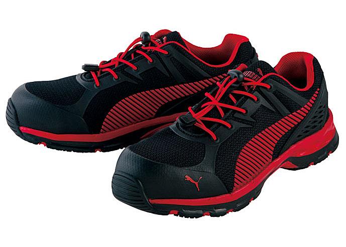 ☆プーマ/PUMA NO.64.226.0 Fuse Motion 2.0 Red Low ヒューズ・モーション2.0・レッド・ロー (25.0cm~28.0cm) 3E 安全靴 男性用ローカット作業靴 JSAA A種認定 PUMA SAFETY