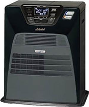 ☆トヨトミ 石油ファンヒーター ハイブリット ブラック・レッド・シルバー 人感センサー搭載 暖房機