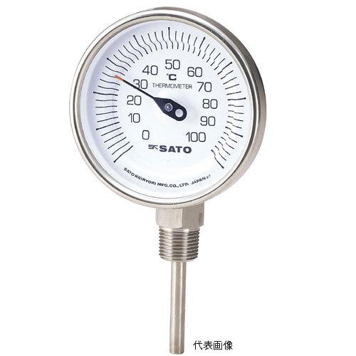 【送料無料】☆佐藤/SATO バイメタル温度計 BM-S-90S (0~100℃, L=150mm, R(PT) 1/2) (2030-44)