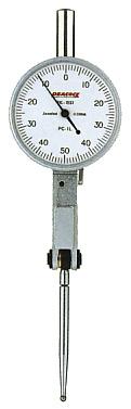 ☆尾崎製作所/PEACOCK PC-1L てこ式ダイヤルゲージ (切換レバータイプ) ピクテスト PCシリーズ  縦形 目量:0.01mm 測定範囲:1.0mm ピーコック