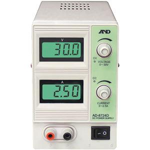 ☆エー・アンド・デイ(A&D) AD-8724D 直流安定化電源 30V 2.5A