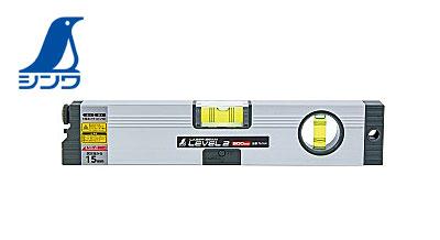 【NEW】☆シンワ 76164 レーザービームレベル2 300mm マグネット無 PSC適合品 水平器 LED付水平気泡管