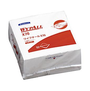 【代引き不可】☆クレシア 60570 大箱 ワイプオールX70 4つ折り 50枚×18パック  コード(3811620)