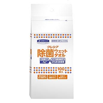 【代引き不可】☆クレシア 64145 大箱 除菌ウェットタオル 詰め替え用 100枚×20パック 洗浄・除菌