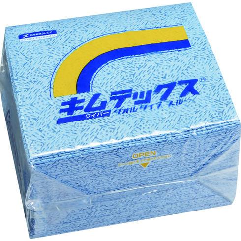 【代引き不可】☆クレシア 60732 大箱 キムテックス タオルタイプ ブルー 50枚×12束  コード(1373670)