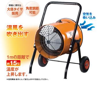 【法人向け送料無料】【代引き不可】☆ナカトミ ISH-10KT 電気ファンヒーター(循環型温風送風機) 三相 200V 50/60Hz 暖房機