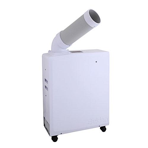【法人向送料無料】【代引き不可】☆スイデン SS-16MZW-1 ポータブルスポットエアコン 白色 冷風1口 100V 自動首振り装置なし フロアタイプ
