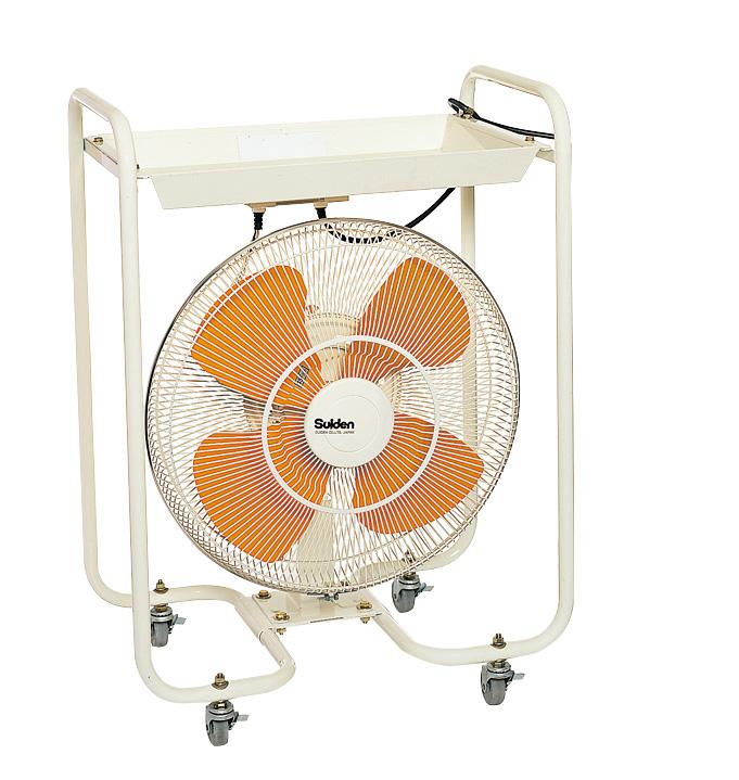 床面の乾燥などに最適。広範囲に風を送る首振り式 【法人宛限定】【代引き不可】☆スイデン SKF-45KR3-1V キャスタースイファンKR3タイプ 首振り式トレイ付きキャスター扇 ハネ45cm 単相100V