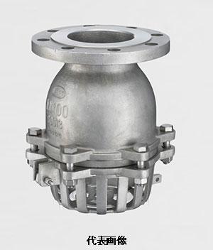 ☆【代引き不可】スリーエム工業 フランジ式フートバルブ レバー付 型式:10FF-13 150A (6) SCS13 標準品