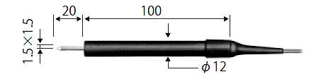 ☆ライン精機 KF-05A 熱電対プローブ  表面用ストレート(小面積計測用)