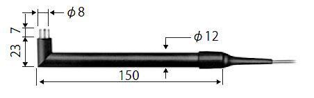 ☆ライン精機 KF-10A 熱電対プローブ 表面用L形(小面積計測用)