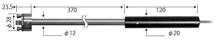 ☆ライン精機 KF-16A 熱電対プローブ 表面高温用