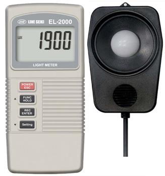 ☆ライン精機 EL-2000 デジタル照度計+温度計