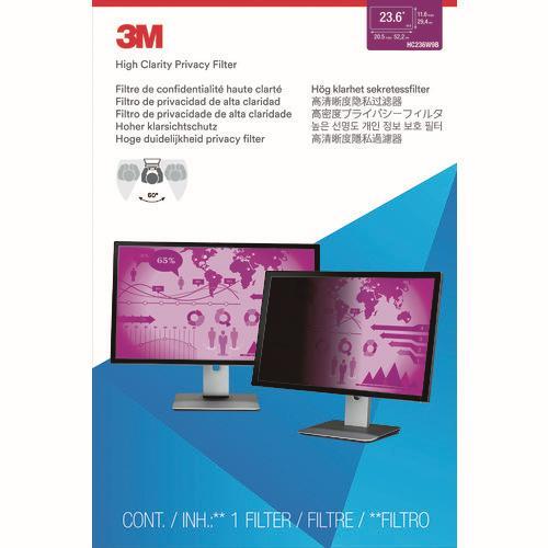 ☆3M/スリーエム PF23.6W HC 16:9 セキュリティ/プライバシーフィルター ハイクラリティータイプ HC230W9B  コード(1164711)