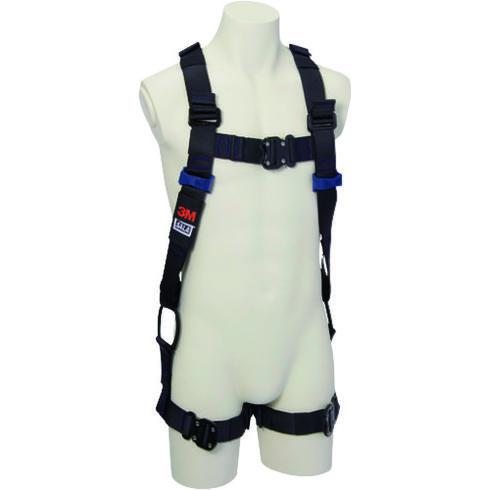 作業時の腿の動きを妨げないサイドループH型腿ベルト製品です ☆3M/スリーエム 1114114N DBI-サラ エグゾフィット ライト フルハーネス H型 Lサイズ   コード(1607842)