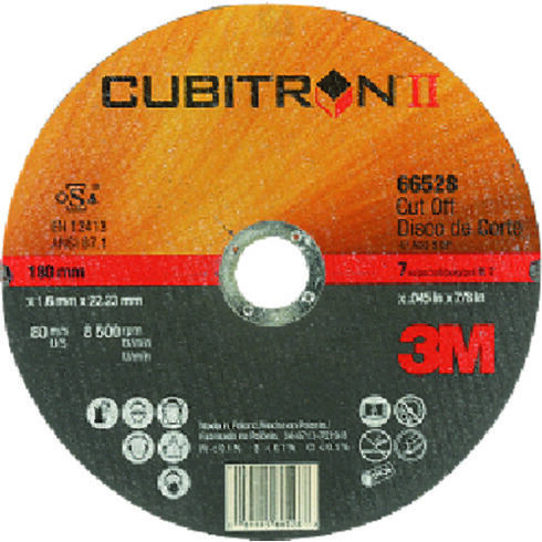 ☆3M/スリーエム PN66528 25 キュービトロンII 切断砥石 PN66528 180mm 粒度60  (25枚入)  コード(2272973) ディスクペーパー