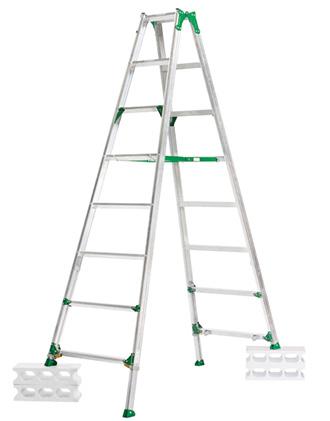 ☆【送料無料】【代引き不可】ALINCO/アルインコ 伸縮脚付き専用脚立 天板高さ 2.16~2.60m 幅広踏ざん(60mm) PRT-240F 【時間指定不可】