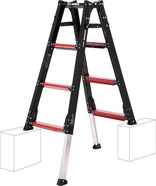 【代引き不可】☆ALINCO/アルインコ GUD-120 伸縮脚付きはしご兼用脚立 GAUDI ガウディ 上でやるやつ GUD120  【時間指定不可】