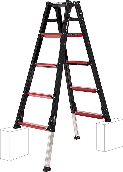 【代引き不可】☆ALINCO/アルインコ GUD-150 伸縮脚付きはしご兼用脚立 GAUDI ガウディ 上でやるやつ GUD150  【時間指定不可】
