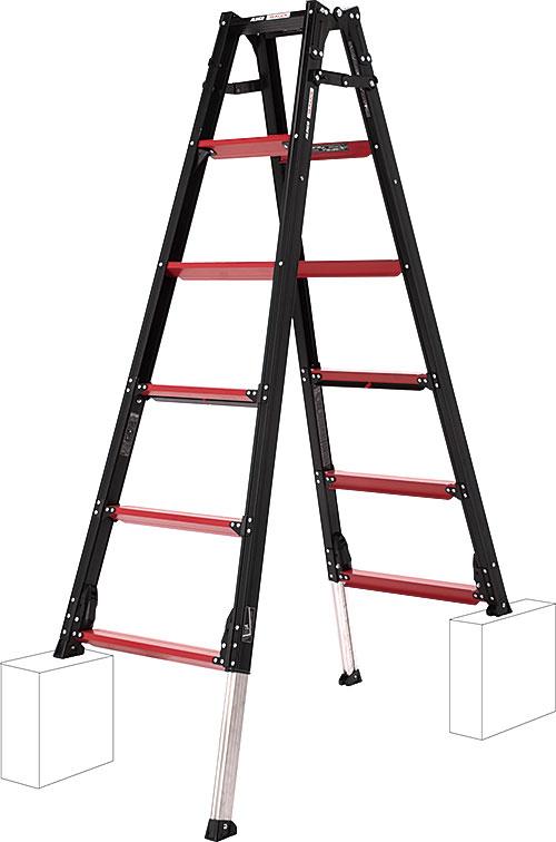 【代引き不可】☆ALINCO/アルインコ GUD-180 伸縮脚付きはしご兼用脚立 GAUDI ガウディ 上でやるやつ GUD180  【時間指定不可】