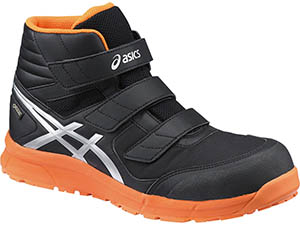 ☆アシックス/ASICS  作業靴 ウィンジョブ CP601 G-TX ブラック×シルバー  安全靴 スニーカー・ハイカット ベルトタイプ (24.5cm~30.0cm)FCP601-9093 【RCP】