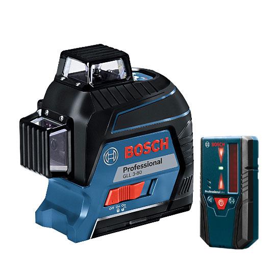 【NEW】☆BOSCH/ボッシュ GLL3-80KIT レーザー墨出し器キッド ウォールマウント・受光器セット