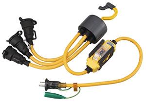 ☆ハタヤ/HATAYA ブランパス延長コード 屋外用 BTX-013K 漏電遮断器付型 2P/2P接地付兼用防雨型コンセント付