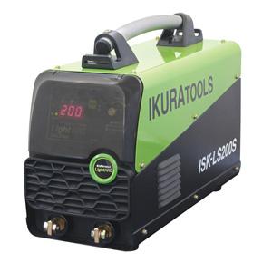 ☆【NEW】育良精機/イクラ ライトアーク ISK-LS200S インバータ制御直流アーク溶接機(電撃防止機能付) 単相200V 20A~200A EMS対策商品