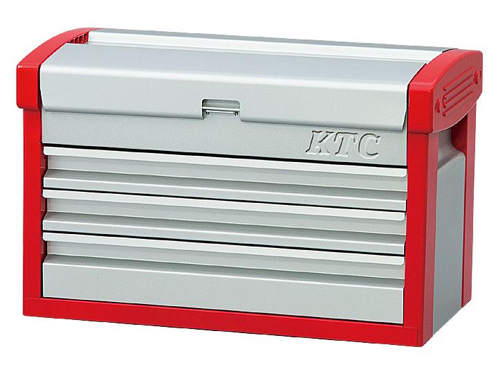 ☆KTC/京都機械工具 EKR-103 チェスト (3段3引出) シルバーxレッド 工具箱